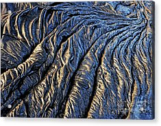 Cooled Pahoehoe Lava Flow Acrylic Print by Sami Sarkis