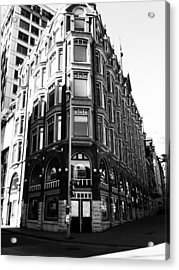 Corner Building Acrylic Print by Kevin Gilchrist