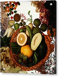 Cornucopia Of Exotic Fruit Acrylic Print by Photo Researchers