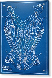Corset Patent Series 1905 French Acrylic Print by Nikki Marie Smith
