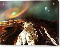 Cosmic Landscape Of An Alien Planet Acrylic Print by Corey Ford
