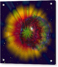 Cosmic Light Acrylic Print by Linda Sannuti
