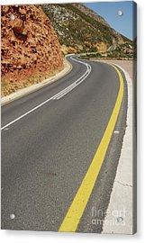 Costal Road Acrylic Print by Sami Sarkis