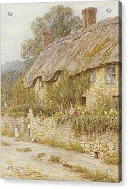 Cottage Near Wells Somerset Acrylic Print by Helen Allingham