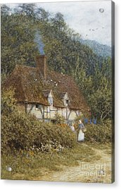 Cottage Near Witley Surrey Acrylic Print by Helen Allingham