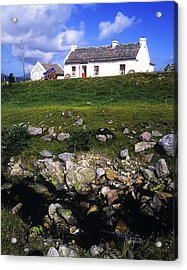 Cottage On Achill Island, County Mayo Acrylic Print by The Irish Image Collection