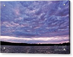 Cotton Candy Clouds Acrylic Print by Jill Hyland