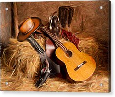 Country And Western Painting Acrylic Print by Peter G Dobson