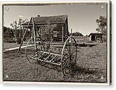 Country Classic Monochrome Acrylic Print by Steve Harrington