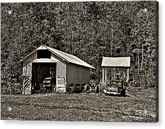 Country Life Sepia Acrylic Print by Steve Harrington