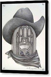 Country Radio Acrylic Print by Diana Lehr
