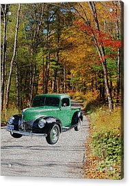 Country Roads Acrylic Print by Cheryl Young