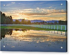 Country Sunset Reflection Acrylic Print by James BO  Insogna