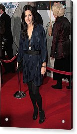 Courteney Cox Wearing A Marc Jacobs Acrylic Print by Everett