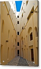 Courtyard Acrylic Print by Mike Horvath