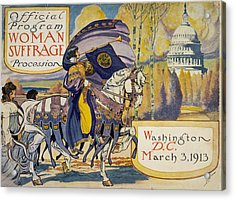 Cover Of Program For The National Acrylic Print by Everett