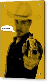 Cowboy  Acrylic Print by Chandler  Douglas