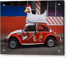 Cowboy Chicken Acrylic Print by Skip Hunt