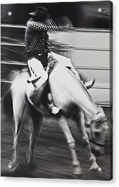 Cowboy Riding Bucking Horse  Acrylic Print by Garry Gay