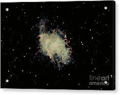 Crab Nebula Acrylic Print by Hale Observatories