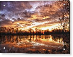 Crane Hollow Sunrise Boulder County Colorado Hdr Acrylic Print by James BO  Insogna