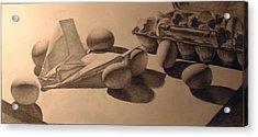 Crash Landing Acrylic Print by Nathan Buhler