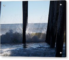 Crashing Wave Acrylic Print by Greg Geraci