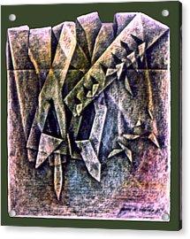 Crayolacomp B 1985 Acrylic Print by Glenn Bautista