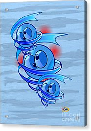 Crazy Blue Eyes Acrylic Print by Rod Seeley