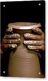 Creation At The Potter's Wheel Acrylic Print by Rob Travis