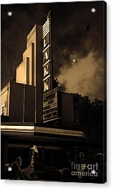 Creature Feature At The Lark - Larkspur California - 5d18484 - Sepia Acrylic Print by Wingsdomain Art and Photography