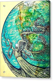 Creatures Can Understand And Absorb Acrylic Print by Paulo Zerbato