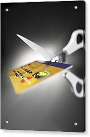 Credit Card Debt Acrylic Print by Tek Image