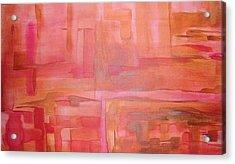 Crimson Sky Acrylic Print by Derya  Aktas