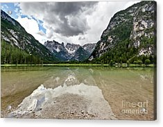 Cristallo Mountains Reflection Dolomites Northern Italy Acrylic Print by Charles Lupica