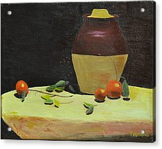 Crock With Fruit Acrylic Print by Tom Amiss