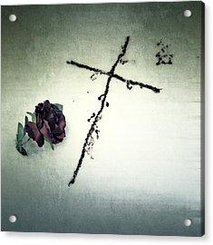 Cross Acrylic Print by Joana Kruse