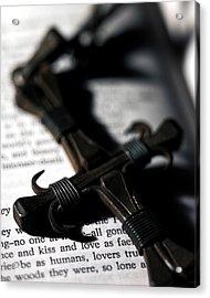 Cross On A Book Acrylic Print by Fabrizio Troiani