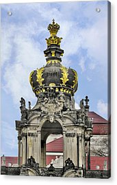 Crown Gate - Kronentor Zwinger Palace Dresden Acrylic Print by Christine Till