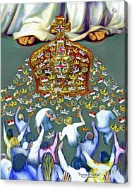 Crowns At His Feet Acrylic Print by Susanna  Katherine