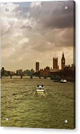Cruise On River Thames In London - England Acrylic Print by Alexandre Fundone