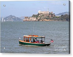 Cruizing The San Francisco Bay On The Pier 39 Boat Taxi With Alcatraz Island In The Distance.7d14322 Acrylic Print by Wingsdomain Art and Photography