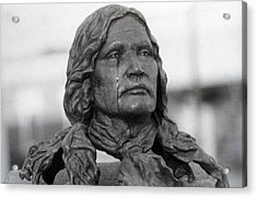 Crying Chief Niwot  Acrylic Print by James BO  Insogna