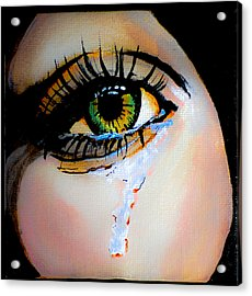 Crying Eye 2 Acrylic Print by Chris  Leon