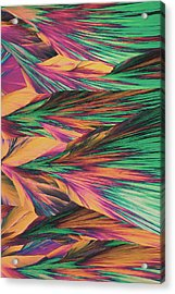 Crystal Micro Structure Acrylic Print by John Foxx