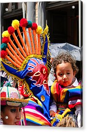 Cuenca Kids 132 Acrylic Print by Al Bourassa