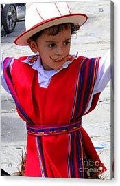 Cuenca Kids 68 Acrylic Print by Al Bourassa