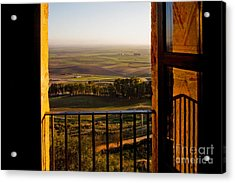 Cultivated Land In Spain Acrylic Print by Spencer Grant and Photo Researchers