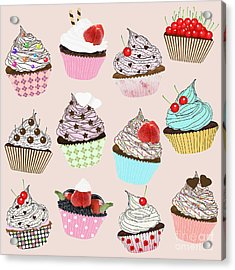 Cupcake  Acrylic Print by Setsiri Silapasuwanchai