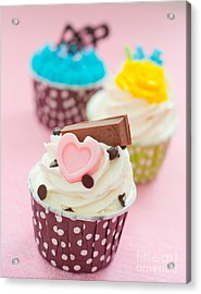 Cupcakes Acrylic Print by Tul Chalothonrangsee